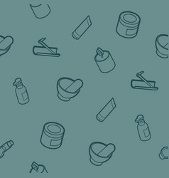 spa outline isometric pattern vector image