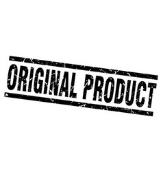 Square grunge black original product stamp vector