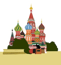 St basils cathedral on red square vector