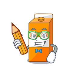 student package juice character cartoon vector image