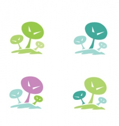 trees pictogram vector image