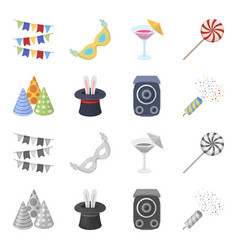 tricks music and other accessories at the party vector image