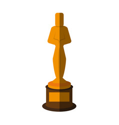 Trophy award icon image vector