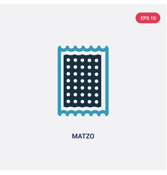 Two color matzo icon from religion concept vector
