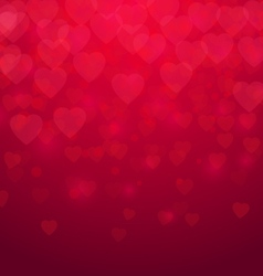 Valentines day Red hearts background vector image