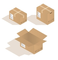 various cardboard boxes in vector image