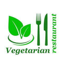 vegetarian restaurant sign vector image