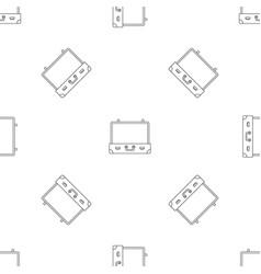 vintage suitcase pattern seamless vector image
