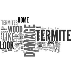 what does termite damage look like text word vector image