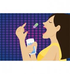 woman medication vector image