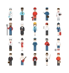 Cartoon Characters Of Different Professions vector image