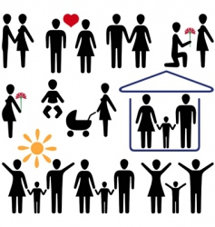 love and family vector image