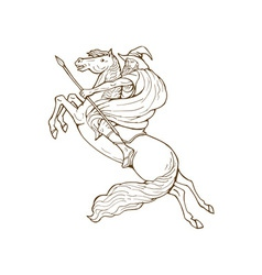 Norse God Odin riding horse vector image vector image