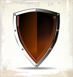 Orange Shield vector image