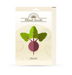 pack of beet seeds icons vector image vector image