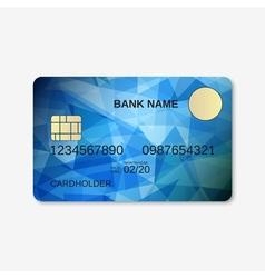 Bank card credit card discount card design vector image vector image
