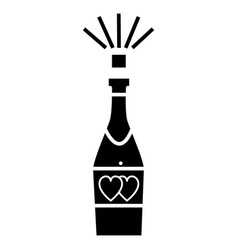 champagne popping icon sig vector image