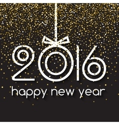 Happy New Year 2016 Creative Gold Light Glitter vector image vector image