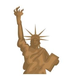 liberty statue new york city vector image vector image