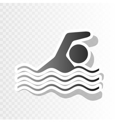 swimming water sport sign new year vector image