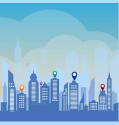 urban landscape background vector image