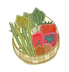 Vegetables in a basket vector image vector image