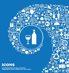 Wine Icon sign Nice set of beautiful icons twisted vector image vector image