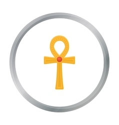 Ankh icon in cartoon style isolated on white vector