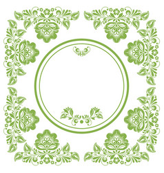 greenery ecology russian floral frame background vector image vector image