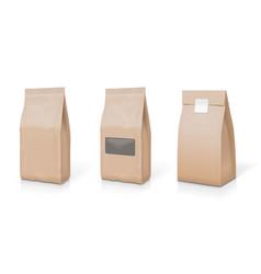 paper foil for food snack sachet bag packaging set vector image vector image