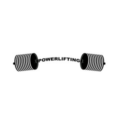 powerlifting barbell sports accessory lifting vector image vector image