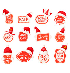 sale and discounts labels with percents collection vector image