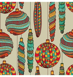 Seamless Christmas vintage pattern vector image vector image
