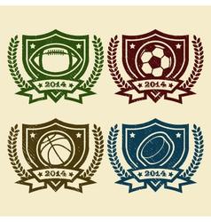 Sport Logo Emblem Rubber Stamps vector image
