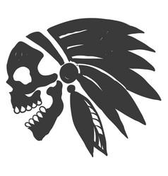 tattoo indian skull vector image