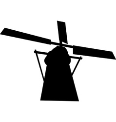 black mill silhouette vector image