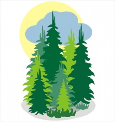 forrest wood vector image vector image