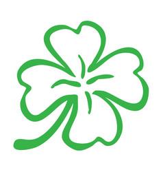 lucky irish clover for st patricks day vector image
