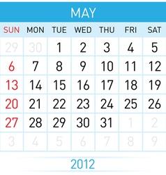 may calendar vector image