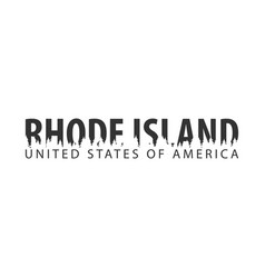 rhode island usa united states of america text vector image