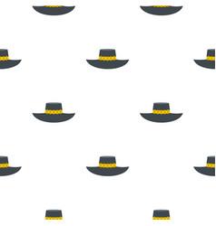 Woman hat pattern flat vector
