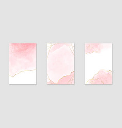 abstract dusty pink liquid watercolor background vector image