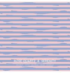 Abstract rose quartz and serenity striped vector