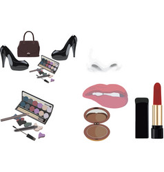 Accessories for female aesthetics and beauty vector