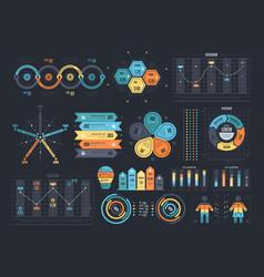 arrangement infographic templates vector image