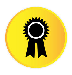 award icon yellow circle frame background i vector image