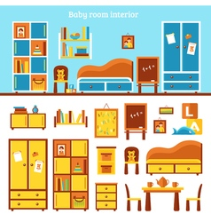 Baby Room Furniture Infographics vector