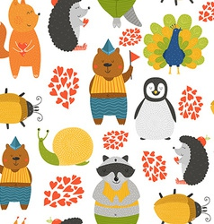 background with cute animals vector image