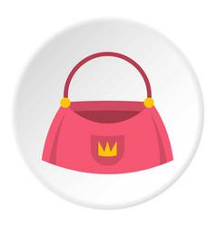 Bag icon circle vector