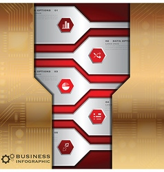 Business Infographic With Technology Background vector image